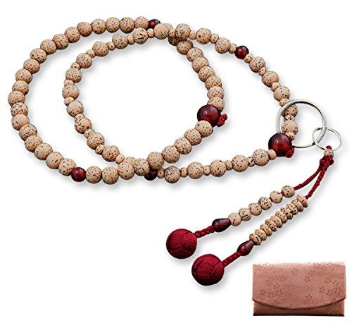 京仏壇はやし 数珠 浄土宗 星月菩提樹 瑪瑙 ( めのう ) 入り ( 女性用 ) 正式 本式 【 数珠袋セット 】 SW-003 京都 念珠 B00H5I2RKQ