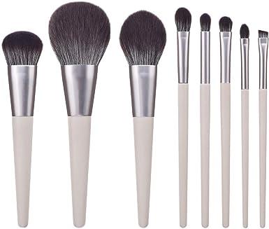DressLksnf Set de Brochas de Maquillaje Profesional 8 pcs Brochas Maquillaje Comésticos para Sombra de Ojos Corete Polvo y Cejas con Bolsa de Viaje + Caja de Regalo: Amazon.es: Ropa y accesorios