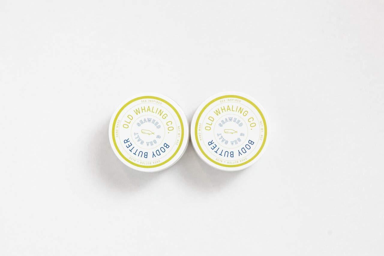 TWO Seaweed + Sea Salt Body Butter    handmade lotion/shea butter/aloe vera/paraben and mineral oil free/moisturizing / best seller