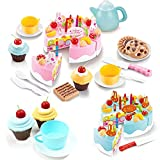 54 X Pretend Role Play Kitchen Toy Happy Birthday Cake Food