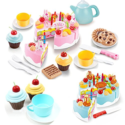 Kitchen Cooking Role Pretend Play Toy Cooker Set (Pink) - 9