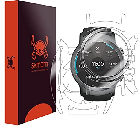LG Watch Sport Screen Protector + Full Body , Skinomi TechSkin Full Coverage Skin + Screen Protector for LG Watch Sport Front & Back Clear HD (Lg Sport Watch)