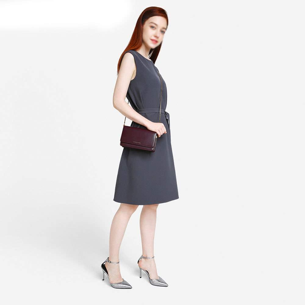 GAOQQ Female Small Square Bag PU Leather Snake Bone Chain Shoulder Strap Crossbody Bag