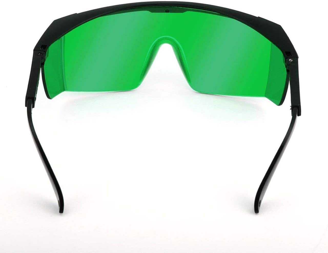 Gafas de seguridad láser para violeta/azul 200-450/800-2000nm Absorción Gafas de protección redondas Gafas de protección láser Gafas de montura negra y lente verde Jasnyfall