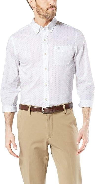 dockers Long Sleeve Signature Comfort Flex Shirt Camisa de Vestir para Hombre: Amazon.es: Ropa y accesorios