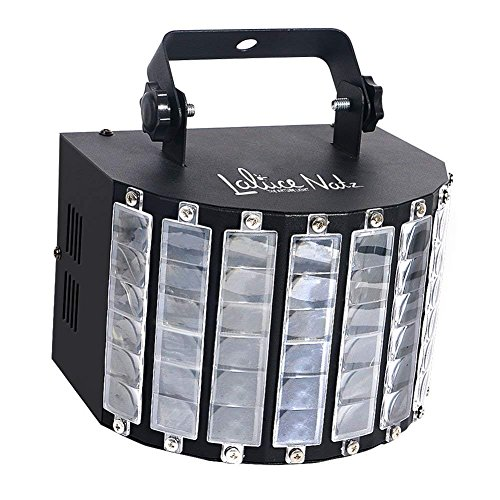 LaluceNatz DJ Lights with 30W Multicolor LED Beams by IR Remote and DMX Control for Disco Club Birthday Party Stage Lighting (Metal Casing) ()