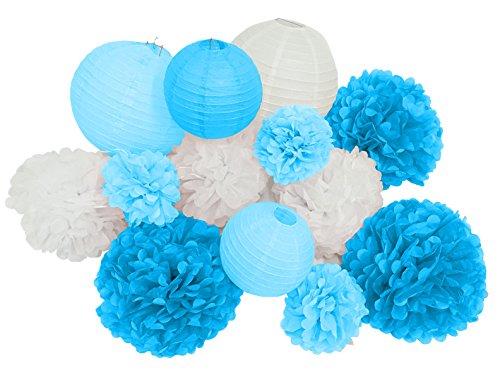 Paper-Jazz-13pcs-decorative-paper-pom-pom-lantern-for-wedding-birthday-baby-shower-graduation-meeting-event-party-decoration-BLUE-WHITE