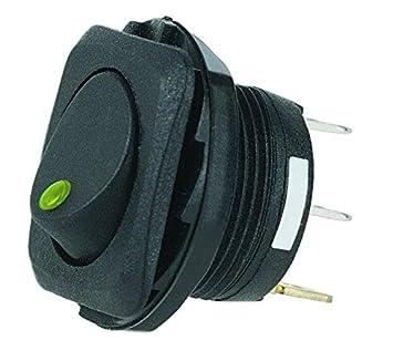 amazon com hella h61923001 spst led green rocker switch automotive hella h61923001 spst led green rocker switch