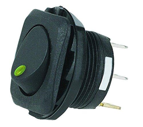 HELLA H61923001 SPST LED Green Rocker Switch