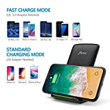 Seneo Fast Wireless Charger, 10W Fast-Charging Compatible with Galaxy S9/S9+/S8/S8+/Note 9, Qi-Certified Compatible with iPhone Xs Max/XS/XR/X/8/8Plus and All Qi-Enabled Phones (No AC Adapter)
