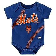 New York Mets Blue Stitches Bodysuit Onesie Creeper 3-6 Months