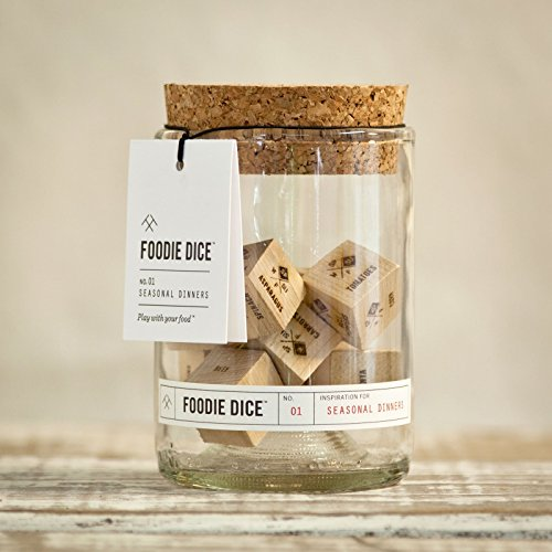 Foodie Dice® No. 1 Seasonal Dinners (tumbler) // foodie gift, hostess gift, cooking gift