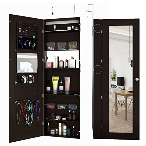 FDegage Jewelry Cabinet Lockable Wall Door Mounted Jewelry Armoire Storage Organizer with Full Length Mirror Valentine's Day Gift by FDegage (Image #7)