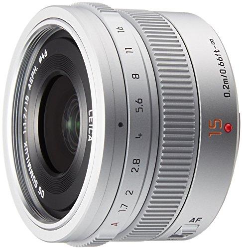 Panasonic LEICA DG SUMMILUX 15mm / F1.7 ASPH. H-X015 -S (Silver) - International Version (No (Panasonic Lumix Warranty)
