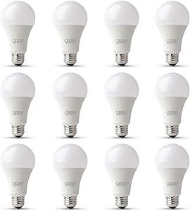 Feit Electric OM100DM/930CA/2/6 100W Equivalent 17.5 Watt Dimmable 1600 Lumens A19 LED Light Bulb, 4.6