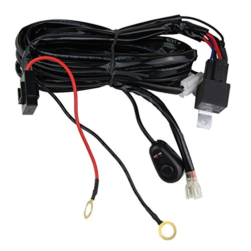 Lumitek Wiring Harness Kit 40A 14V ON/OFF Switch Relay For 72W~300W LED Work Light Bar(1 Head) ...