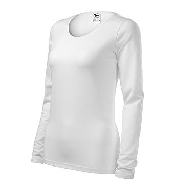61b6547f2b05 Dress-O-Mat Damen Shirt LangarmShirt Longsleeve Tailliert SLIM Gr 36 S weiß