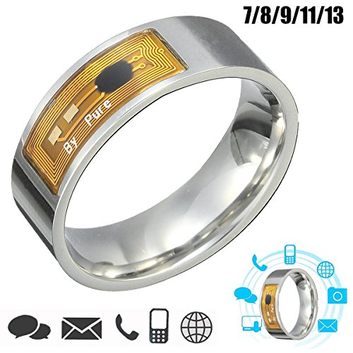Mobile Phones & Accessories - Smart Things Door Lock Ring Clock Rfid Rings Link - 7/8/9/11/13 Size Nfc Tag Smart Magic Finger Ring For Android Phone - Smart Things Door - India Coupon Mobile