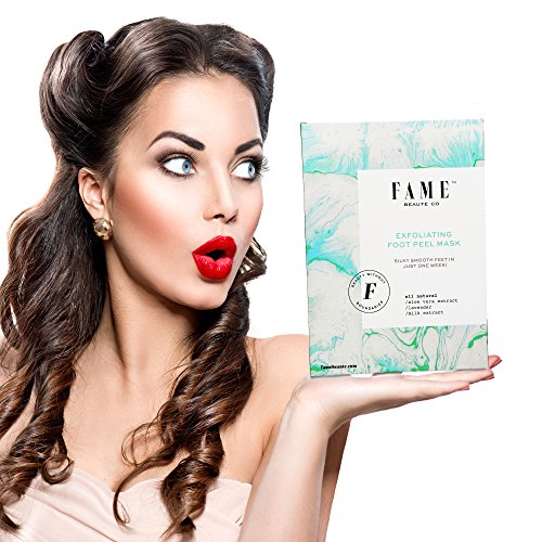 Fp Aloe (Soft as a Babys Feet Skin Peel 2 Pairs Foot Mask & Callus Remover Foot Treatment, Deep Exfoliation by Fame Beauté Co)