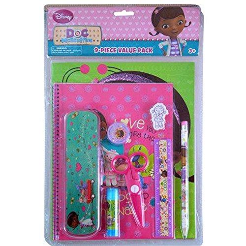 Junior Favor Doc Box Party Mcstuffins Disney (Doc Mcstuffins Pencil Case and Stationery Set 9)