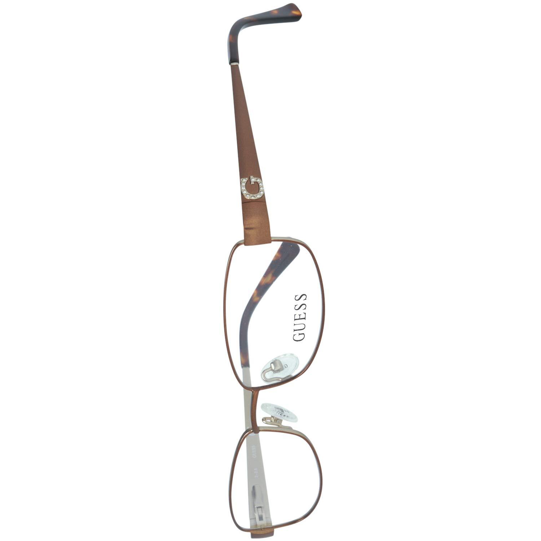 Guess Brille Gu2569 049 53 Monturas de gafas Marr/ón Braun 53.0 para Mujer