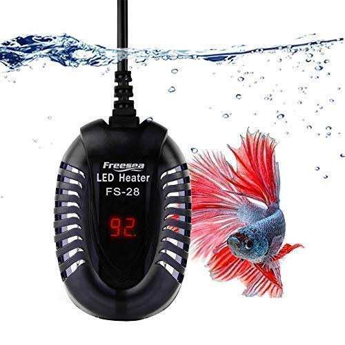 (FREESEA Small Aquarium Betta Submersible Heater with LED Temperature Display (50-300Watt))