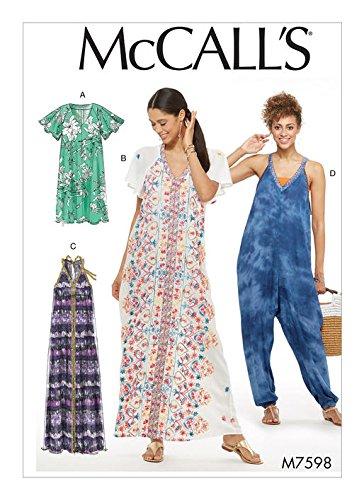 8e409d0198e Amazon.com  MCCALLS M7598 Misses  Very Loose-Fitting V-Neck Dresses ...