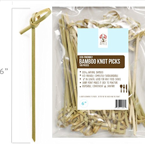 Bamboo Knot Picks, 100pc 6