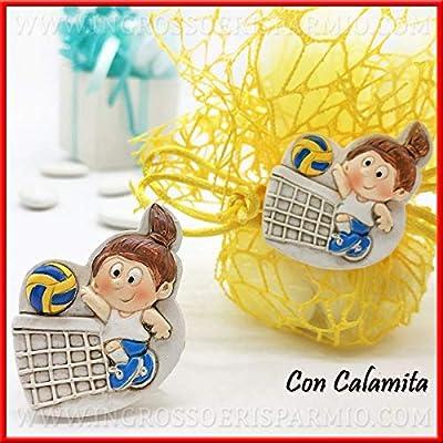 Ingrosso e Risparmio - 12 imanes con temática de Voleibol con niña ...