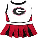 Pets First NCAA GEORGIA BULLDOGS DOG Cheerleader Outfit, Medium