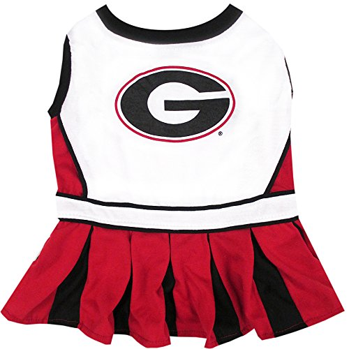 NCAA Georgia Bulldogs Dog Cheerleader Outfit, Small]()