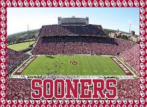 Oklahoma Sooners 500 Piece Jigsaw Puzzle 16''x20 Size Football Stadium University of