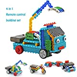 Remote Control Building Kits for Boy Gifts – STEM Robot Kit Building Toys for Teen 6/7 Year Old Boy Gifts Building Blocks Your Own RC Machines Construction Set w/ 127PCS