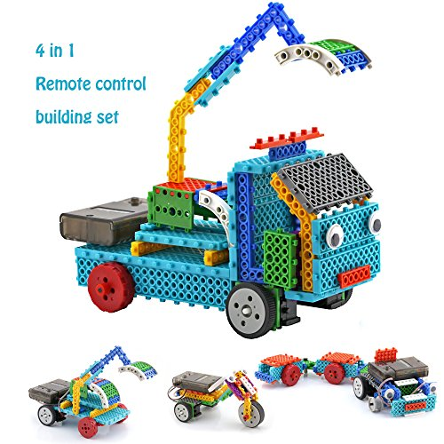 Remote Control Building Kits for Boy Gifts - STEM Robot Kit Building Toys for Teen 6/7 Year Old Boy Gifts Building Blocks Your Own RC Machines Construction Set w/ 127PCS