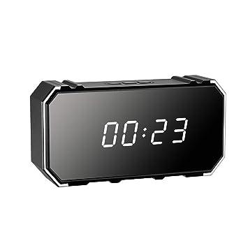 YMXLJJ WiFi 4K Oculto Alarma Reloj 1080P HD Cámara Pequeña Vigilancia Cámara Inicio Seguridad Deportes Detección