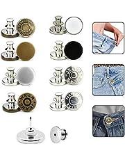 Button Pins for Jeans, 8 Sets 17mm Bouton Jeans Replacement Jeans Button Pins, No Sew Instant Button Detachable Pants Button Pins, Jean Buttons for Pants Bouton Jeans Crafts DIY.