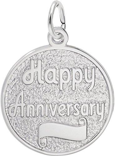 Happy Anniversary Disc Charm (Rembrandt Happy Anniversary Disc Charm - Metal - Sterling Silver)