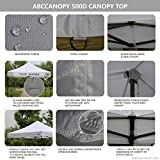 Abccanopy Deluxe 10x10 Instant Canopy Craft Display Tent Portable Booth Market Stall with Wheeled Carry Bag , Bonus 4x Weight Bag