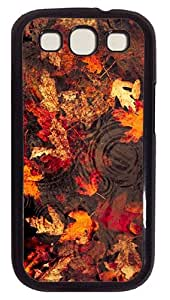 Leaves Floating On The Lake Custom Samsung Galaxy S3 I9300 Case Cover Polycarbonate Black