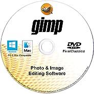 GIMP Photo Editor 2021 Premium Professional Image Editing Software CD Compatible with Windows 10 8.1 8 7 Vista
