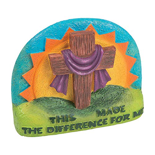 Fun Express - Inspirational Easter Tabletop Cross - Home Decor - Decorative Accessories - Home Accents - 1 Piece