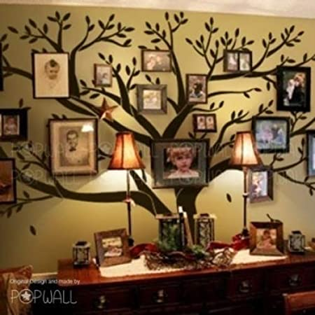 Giant Family Photo Frame Tree Wall Decal Diy Vinyl Wall Sticker For