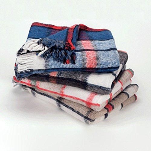Hugger Mugger BT-Recycled-Plaid-Multi Recycled Plaid Yoga Blanket