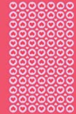 Journal: Hearts and Circles (Pink) 6x9 - LINED JOURNAL - Journal with lined pages - (Diary, Notebook) (Hearts Lined Journa...
