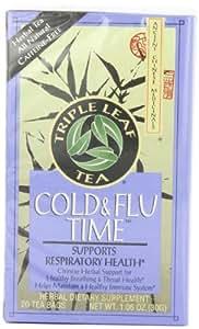 Triple Leaf Tea, Cold & Flu Time, 20 Tea Bags (Pack of 6)