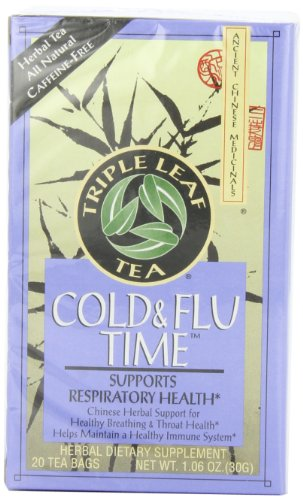 Triple Leaf Tea, Cold & Flu Time, 20 Tea Bags (Pack of 6)
