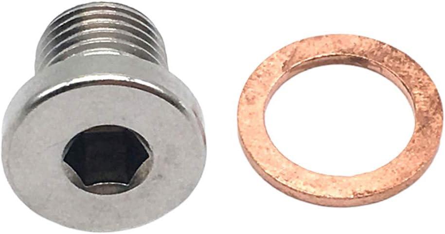 PETSOLA 4 Sets Lambda O2 Oxygen Sensor Exhaust Downpipe Bung Blank Plug M12 X 1.25