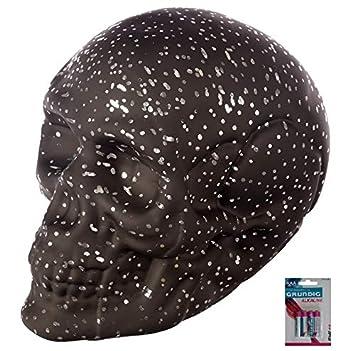 56addcf474a24e bick.shop LED Totenkopf Sternenhimmel Skull Totenschädel inkl. 4 Batterien  Coole Deko Gothic Schädel