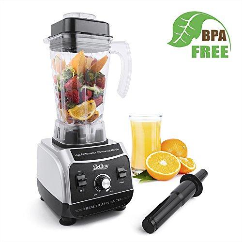 Betitay Professional Commercial Blender 1500W High Speed Electric Mixer Nutrition Food Processors with 2 Litre BPA-Free Pitcher for Ice, Fruits, Vegetables, Smoothies and Soups by Betitay