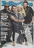 Christina Aguilera, CeeLo Green, Adam Levine, Blake Shelton - The Voice - Rolling Stone Magazine - #1150 - February 16, 2012